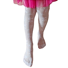 White Girls Wedding Elegant Stockings Tights Leggings Pantyhose Ballet Dance Socks Children Girl Kid Children Dance Embroidery Sheer Stockings Pantyhose Tights Patterned