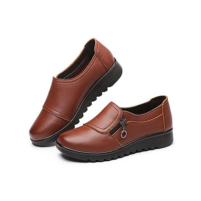 304a07a6ace Fashion Women New Casual Leather Slip On Outdoor Flat Loafers Boat Shoes