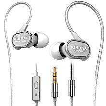 KINBAS VP790 In ear Sport Ear Hook Remote Control Earphone Headphone With Mic