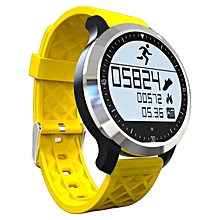 F69 Bluetooth Smart Watch Wrist Smartwatch For Android IOS Wearable Device Heart Rate Monitor Smartwatch  (Color:Yellow)