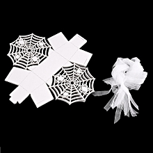 20pcs Spider Web Candy Boxes Halloween Decoration Box Hollow white