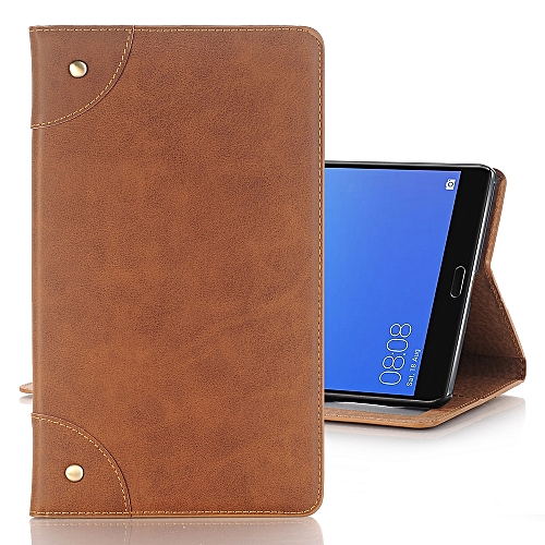 promo code 5442e 7ef08 For Huawei MediaPad M5 8.4 inch Vintage Book Style Horizontal Flip  Environmental PU Leather Case with Holder & Card Slots & Wallet & Photo ...