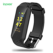 INCHOR WRISTFIT HR2 Colorful TFT Screen Heart Rate Monitor Smart Bracelet-BLACK
