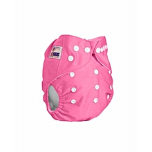 Washable Reusable Adjustable Baby Diaper with 3 Insert-pink