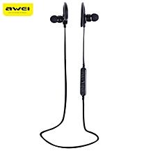 Awei A620BL Wireless Stereo In-ear Sport Bluetooth V4.0 Earphones Hands Free Headphones-BLACK