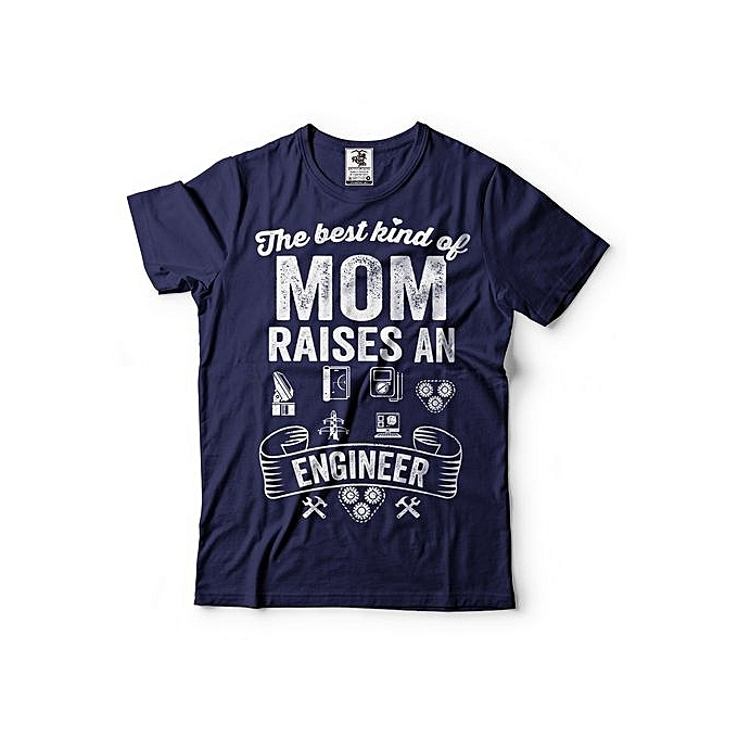 Mom T Shirt Gift For Mother Moms Raises An Engineer Tee Graduatiuon Birthday