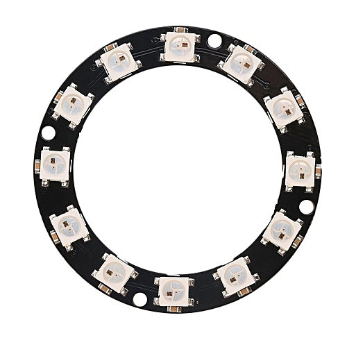 Rgb Led Ring Electronic Components & Supplies 12 X Ws2812 5050 Rgb Led With Integrated Drivers Top Integrated Circuits