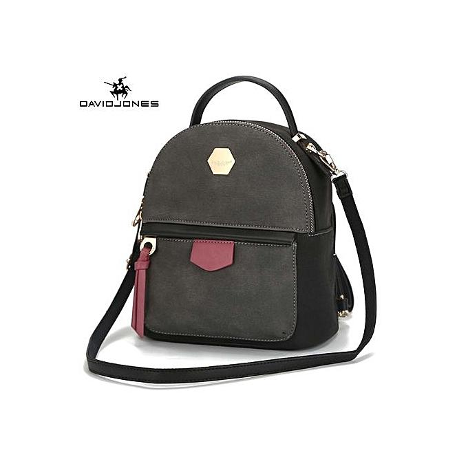 5bab1be6d15 DAVID JONES Mini Backpack Women School Bags Female Shoulder Bags ...