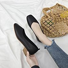 Women'Fashion shoes Low Flats -- Black