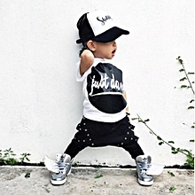 Refined Fashion Children's Clothing Ins Burst Child Suit Boy Handsome Haren Trousers Two Pieces Of Suit