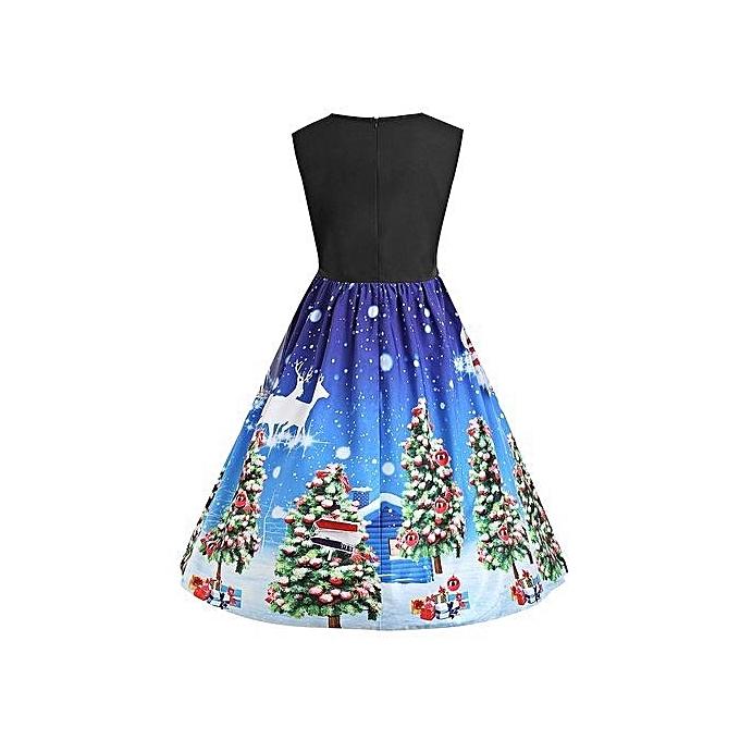 Buy Nextmia Women Christmas Lace Panel Vintage Plus Size Dress ...