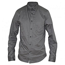 Grey Long Sleeved Men's Shirts