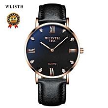 Wlisth  Men's Watch Luxury Top Brand Fashion Watches Relogio Masculino Military Army Watches Analog Quartz Wristwatches Leather 910