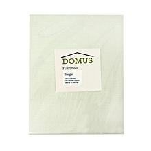 Flat Sheet - Single - 180cm x 240cm - 250T Cotton - White