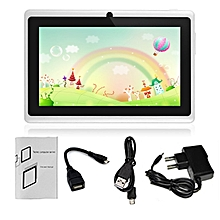 "7"" Q88 A33 Quad Core 512MB/8GB Android Kids Tablet with HD Screen Dual Camera white"