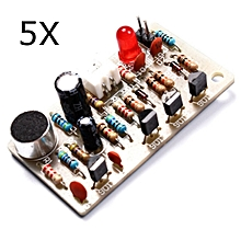 5Pcs Voice Control Clap Switch Module Kit High Sensitive LED Rhythm Bistable Switch DIY Kit