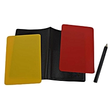 Referee Cards Volleyball Football Sport Wallet Score Notebook Pencil Set