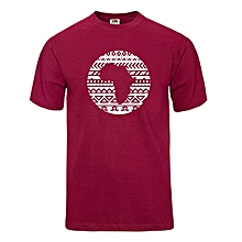 Maroon Tribal Afro T-shirt