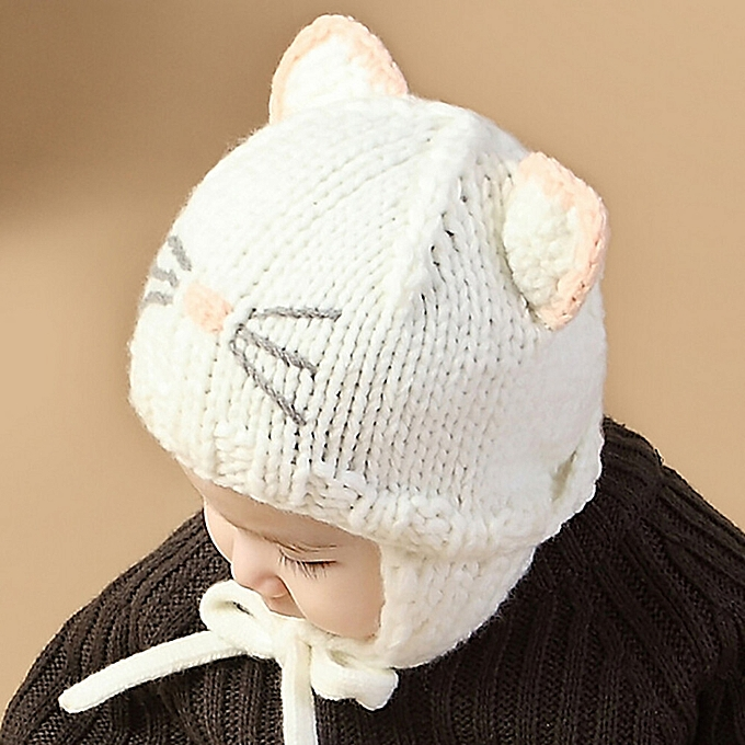 ... jiuhap store Toddler Baby Boys Girls Earflaps Children Knitting Winter  Warm Ball Hats Cap WH- ... bb7b2aef5ebc