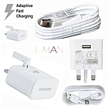 Android Adaptive quick charger for all phones - White