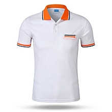 Best Sale Fashion Casual Men's Summer Breathable Short Sleeves Polo Shirts-White