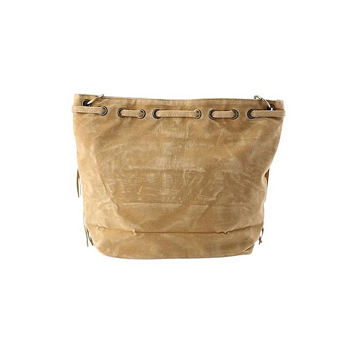 Women Imitation Suede Fringe Tassel Shoulder Bag Handbags Messenger