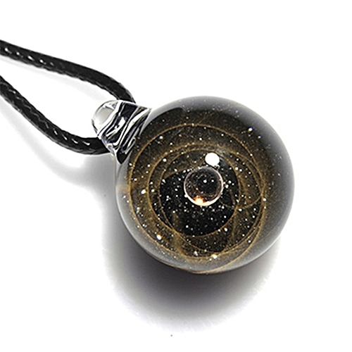 Generic Home-Starry Universe Glass Ball Couple Necklace Pendant ...