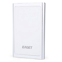 Eaget G90 Portable High Speed USB 3.0 External Hard Drive_SILVER WHITE