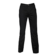 Black Slim Cut Khaki Pants