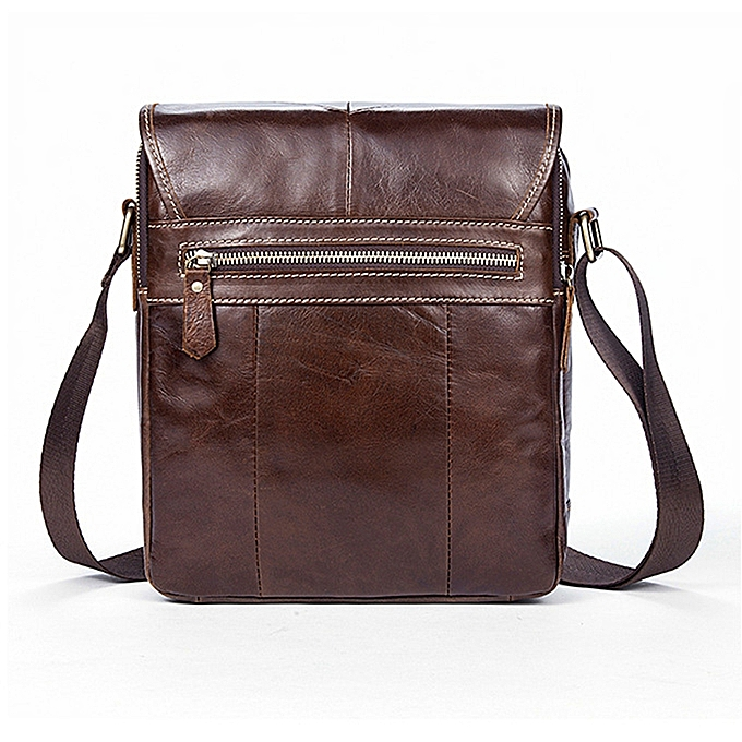 51c01cf0f59 Generic Vintage Messenger bag men's shoulder bag Leather strap Small Casual  Flap Male Crossbody Bags Business Men Handbags(coffee bag)