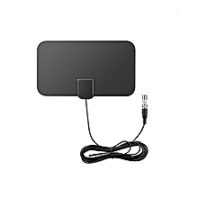 Flat Indoor Free To Air Digital TV Aerial DVB-T2 50 Miles Antenna HD