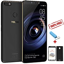 "Camon X Pro- 6.0"" - 64GB - 4GB RAM - 16MP Camera - 4G- (Dual SIM) -  Midnight Black + FREE 360° PROTECTIVE CASE + FREE POWER BANK"