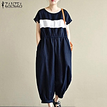ZANZEA Women Short Sleeve Playsuit Romper Overalls Baggy Plus Size Jumpsuit