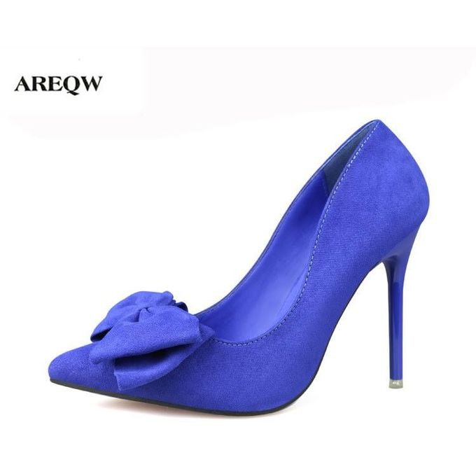 AREQW Shoes Woman Pumps Heels Butterfly Wedding 2017 Ladies High Girls Fashion Thin