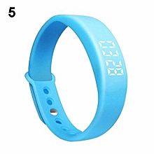 Smart Wrist Watch Pedometer W5 Steps Counter Calories Tracing Sports Bracelet-Blue
