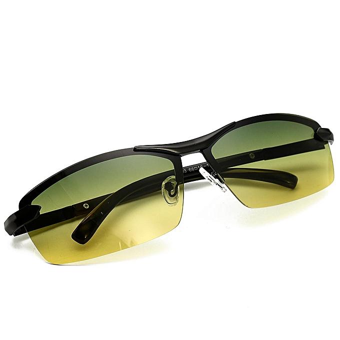0a4ec0bd64 Day Night Vision Men s Polarized Sunglasses Driving Aviator Mirror Sun  Glasses  black