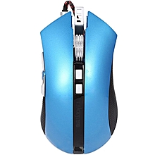 G60 - USB Wired Gaming Mouse With LED Light Nine Buttons - Azure