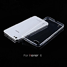 New Hot For Huawei Honor 6 Case Ultra Thin Transparent Crystal Clear Soft TPU Case For Huawei Honor 6+Free Shipping+Tracking NO.