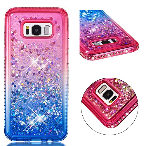 Colour Gradual Change Flowing TPU Cover Case for Samsung Galaxy S8 Plus