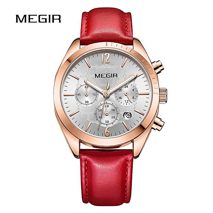 ce81ea13a2e MEGIR Top Brand Woman Watch Female Quartz Watches Lady Fashion Leather  Strap Waterproof Wristwatch Relogio Feminino
