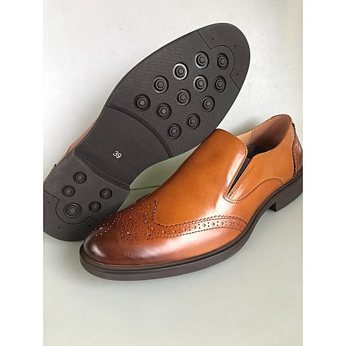 Buy Generic Brown Genuine Leather Urban Look Official Men Shoes
