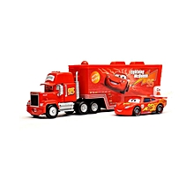Set of 2 Simulation Toy Car Models McQueen of Animated Movie Car Model - Red