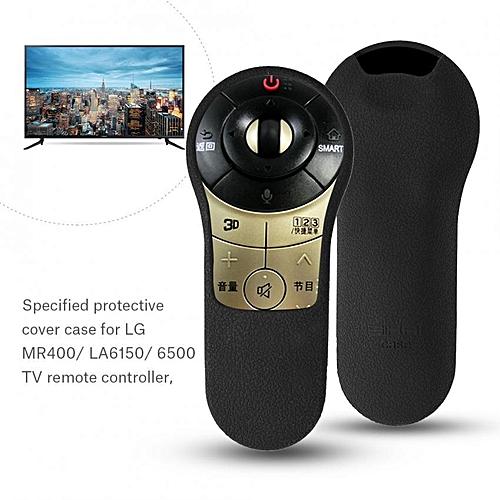 Dustproof Silicone Protective Cover for LG MR400/ LA6150/ 6500 TV Remote  Controller Black