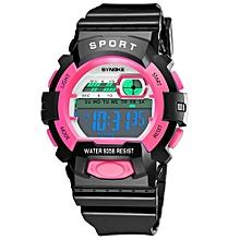 Tectores 2018 Fashion Multifunction Children Boys Student Waterproof Sports Watch LED Digital Date Wristwatch