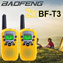 HT 2 x Mini Baofeng T3 BF-T3 BFT3 Walkie Talkie Portable Two-Way Radio Handheld Dual Band 20 Channels (2pcs)
