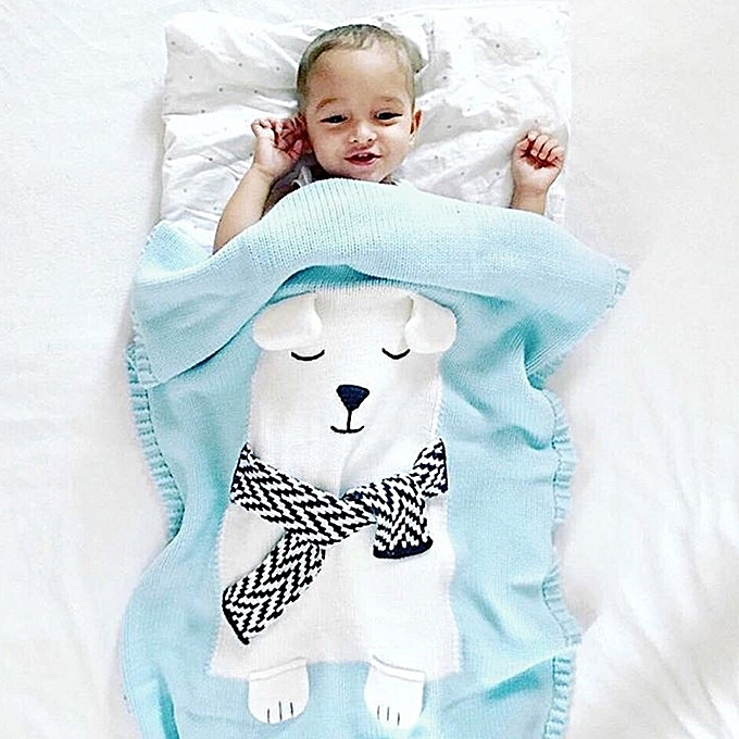 Buy Generic White Bear Pattern Stereoscopic Ears Baby Knitted ...