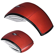 2.4G Wireless Foldable Folding Optical Mouse for Microsoft Laptop Notebook -Red