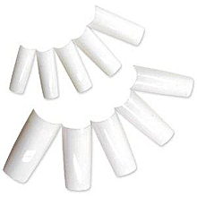 Artificial nail tips French white minipack, 100 pieces.