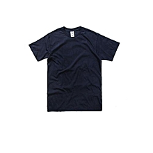 Men's Seamless Short Sleeves T-shirt (Navy)