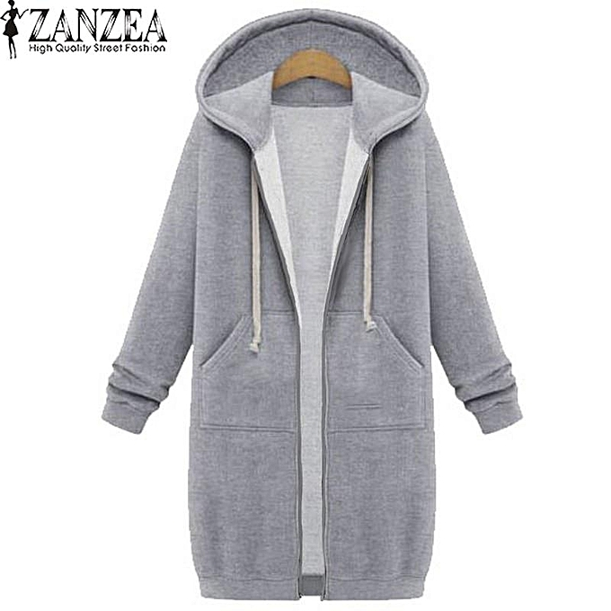 ba906e0a1 Buy ZANZEA New Arrival ZANZEA Winter Coats Jacket Women Long Hooded ...